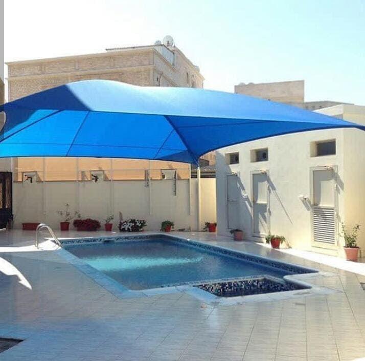 اشكال مظلات مسابح رائعة بتصميمات جديدة 2020 بجميع احياء الرياض
