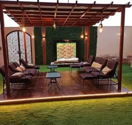 مظلات استراحات خشبية